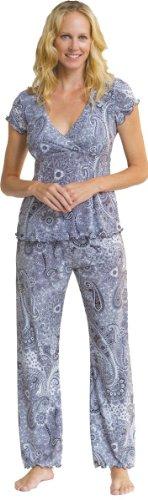 Majamas New Nursing Clothes - Majamas MJs Nursing Pajamas Magnolia Print Large