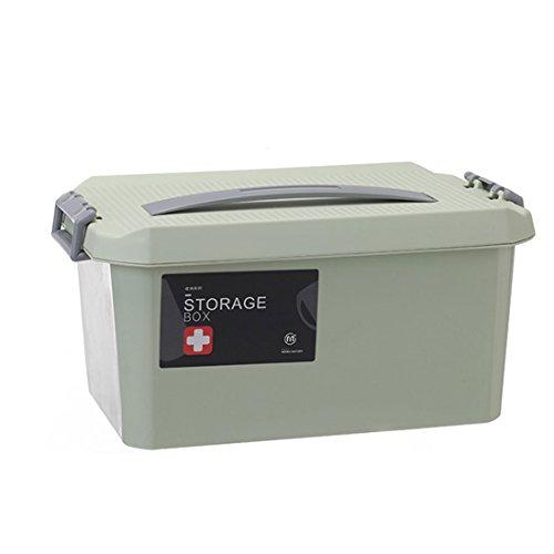 XSHION Medicine Cabinets, First Aid Kit Medicine Box/Nursery Bin/Office Storage File Boxes/Bathroom Storage & Organization (Light Green) by XSHION