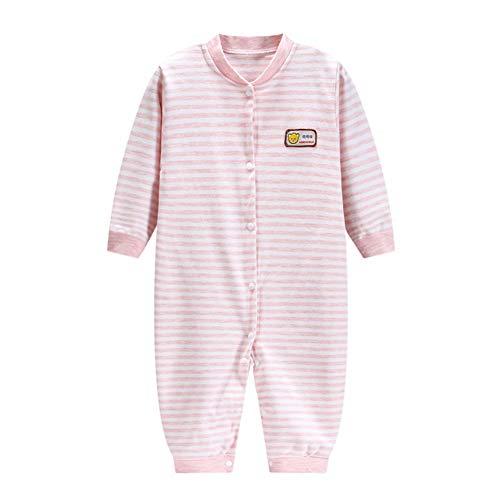 Fairy Baby Infant Baby Unisex Soft Organic Cotton Romper Striped Sleeper Pajamas Size 12-18M (Pink Stripe)