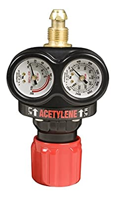 Victor Technologies 0781-5105 ESS3-15-510 Medium Capacity Single Stage Acetylene Regulator, 2-15 psig Delivery Range, CGA 510 Inlet Connection