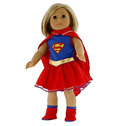 42669d5a4fdfb Amazon.com  Dress Along Dolly Super Girl Doll Clothes for 18
