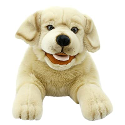 The Puppet Company Playful Puppies Labrador - Yellow Hand Puppet: Toys & Games
