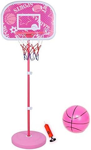 子供のバスケットボールフレーム、ピンクの小さな王女の女の子屋内バスケットボールフレーム、屋外バスケットボールフレームは最大1.5メートル