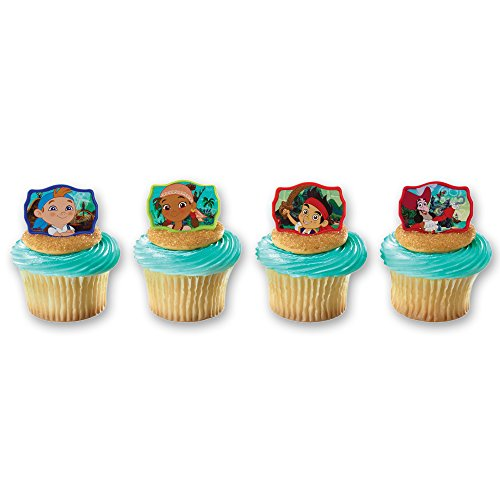 DecoPac Jake and The Never Land Pirates Never Land Gang Cupcake Rings (12 Count)