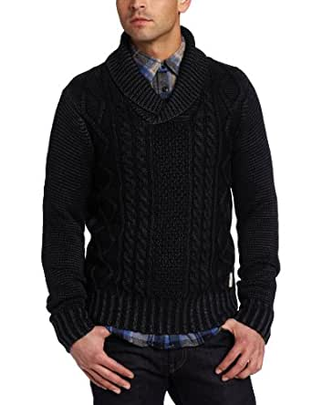 Scotch & Soda Men's Shawl Collar Pullover Sweater, Midnight, Small