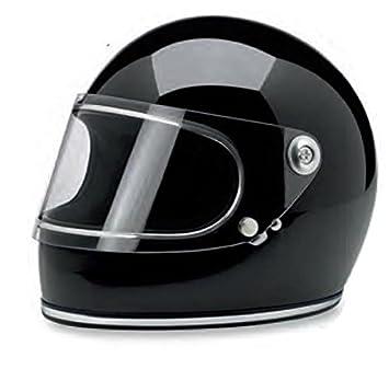 Biltwell Gringo S Solid - Casco integral para motocicleta, color negro brillante