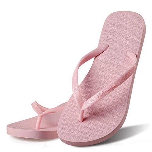 Hotmarzz Chanclas para Mujer Sandalias Playa Verano Piscina Ducha Boda Casa Flip Flops Rosa