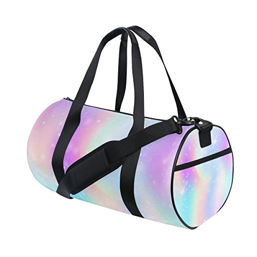 ALAZA Pink Glitter Hearts Travel Duffle Bag Sports Luggage with Backpack Tote Gym Bag for Man and Women by ALAZA