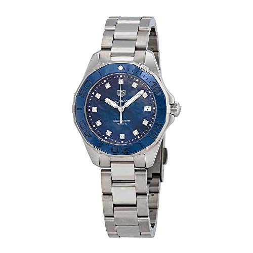 Tag Heuer Aquaracer Blue Mother of Pearl Diamond Dial Ladies Watch WAY131L.BA0748