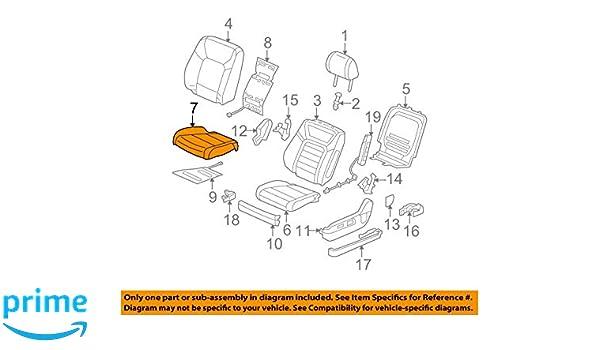 Honda Genuine 82531-T0A-A01ZA Seat Cushion Trim Cover Rear Left