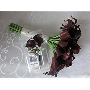 Lily Garden Luxury Calla Lily Bridal Wedding Bouquet 3 Dozen with Groom Boutonniere 4