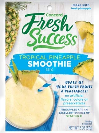 Concord Farms Tropical Pineapple Smoothie Mix, 2-Ounce Pouch (VALUE Pack of 18 Pouches)