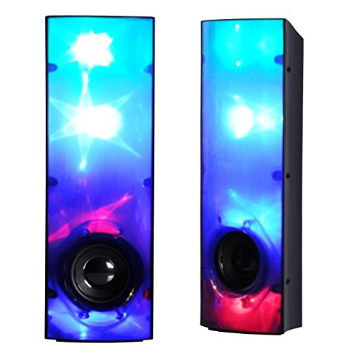 MoreBuyBuy Novel Line-in Laptop Desktop Computer Stereo Speakers with AUX Mode,LED Pulse Light Dance,USB Power for Party and More Outdoor Exciting Activities by MoreBuyBuy (Image #7)