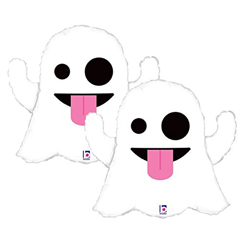 (Set of 2 Ghost Emoji Jumbo 28