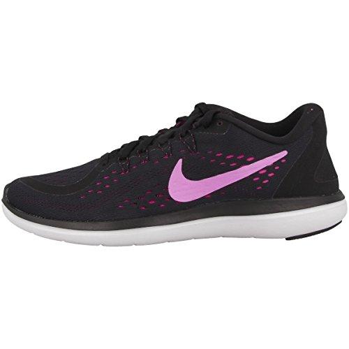 Nike Damen Womens Free RN Sense Running Shoe Hallenschuhe black-fuchsia glow-hyper magenta (898476-014)