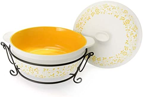 Amazon Com Four Piece Ceramic Oven To Table Casserole Set