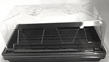 6 bandejas de cultivo de plantas (con orificios de drenaje) + 6 rejillas de