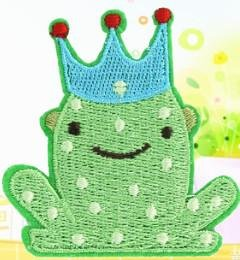 Frog Prince Embroidery Iron on Patch / Applique / Sewn On