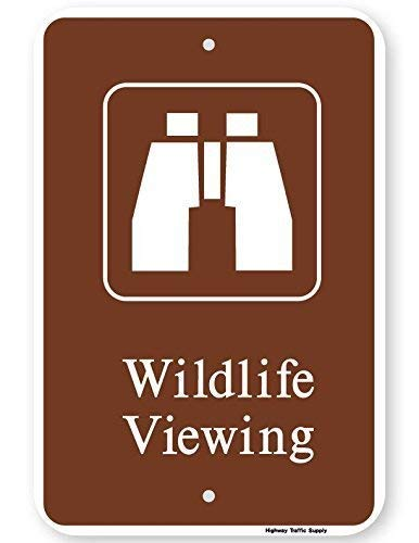 Wildlife Viewing Sign with Symbol Metal Tin Sign Outside Decor Aluminum Sign for Garage Driveway