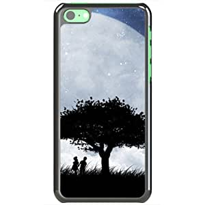 Apple iPhone 5C Case EMO Love Love On The Moon Normal Love Black