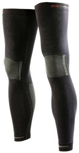 X-Bionic Erwachsene Funktionsbekleidung Biking OW Leg Warmer Light DX SX No Seam, Black/Pearl Grey, L/XL, O020594