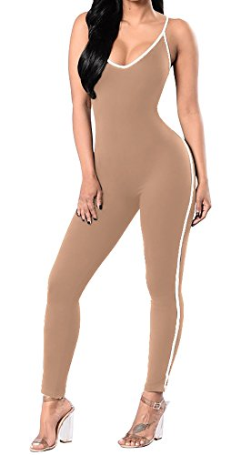 Ybenlow Spaghetti Bodycon Jumpsuits Bodysuit