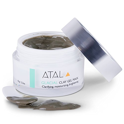 ATAL Face Clay Mask pH Balanced for Deep Pore Cleansing, Reducing Minimizing Blackheads – Tightens and Purify Skin, Anti-aging Facial Mask for Moisturising Acne Treatment – Vegan Gluten Free