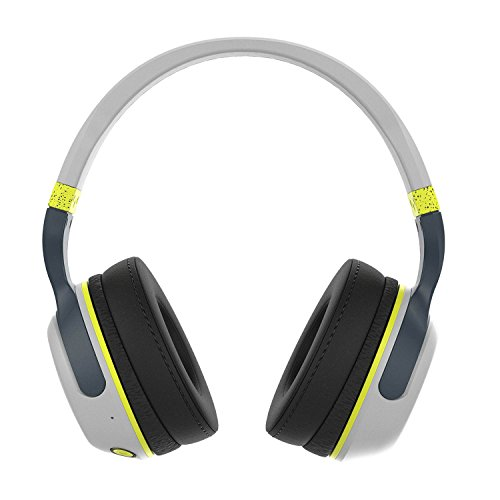 Skullcandy Hesh 2 Bluetooth Wireless Headphones with Mic, Gray and Hot Lime