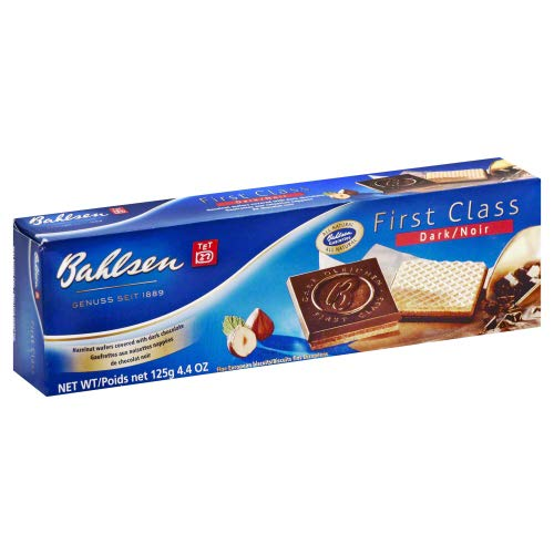 Bahlsen Cookies First Class Bitter Sweet Chocolate 4.4 OZ (Pack of 6)