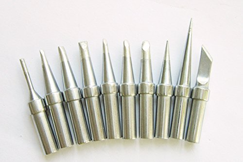 Quality replacement Tip Set 10 pcs for weller WESD51 WES51 PES51 ET Tip Series by ACE