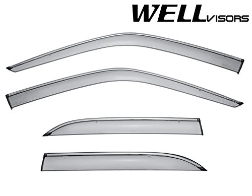 WellVisors Lexus LS400 UCF10 90-94 Sleek HD Side Window Visor Smoke Chrome Trim