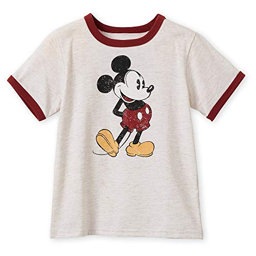 Disney Mickey Mouse Classic Ringer T-Shirt for Boys - Oat Size S (5/6) Multi