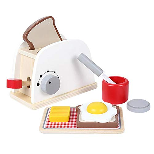 Lx10tqy Pretend Play Kitchen Wood Simulation Toasters Bread Maker Children Game Toy (Pretend Toaster Play)