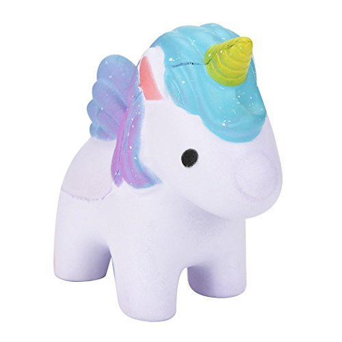 Price comparison product image Balakie Rainbow Pony Squeeze Pressure Decompression Toys,  Dreamlike Squishy Scented Unicorn Slow Rising Squeeze Toys Collection