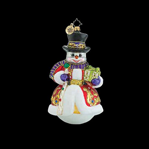 Christopher Radko Sir Scarlet Snow Limited Edition Snowman Christmas Ornament