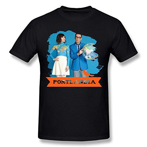 WXTEE Men's Portlandia Carrie Brownstein Season 3 Shirt Size L Black