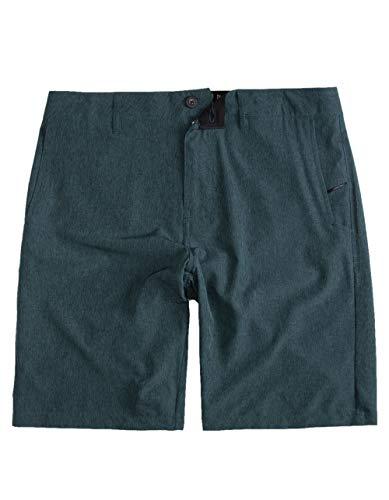 NITROUS BLACK Format Teal Blue Hybrid Shorts, Teal Blue, - Blue Nitrous
