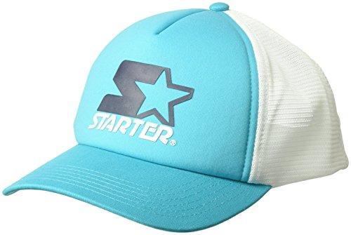 Starter Women's Mesh-Back Trucker Cap, Prime Exclusive, Swim Lane Teal/White, One Size
