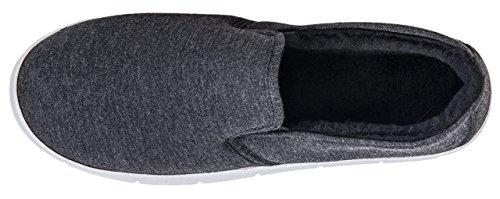 MIXIN Mens Casual Jersey Sneaker Flats Dark Grey q1Q5I1zbHg