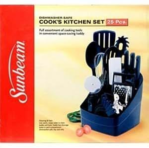 Sunbeam 63015 25 pc Cooks Kitchen Set Black