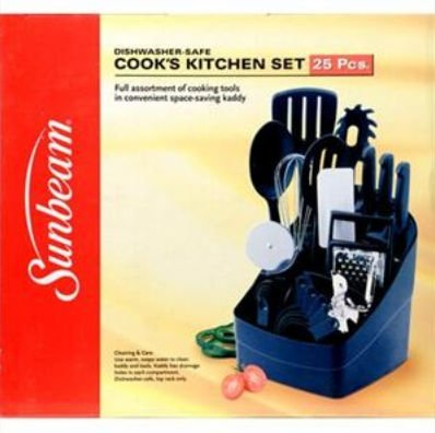 - Sunbeam 63015 25 pc Cooks Kitchen Set Black