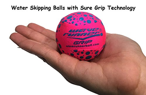 Wave Runner Grip Ball Water Skipping Ball With  Sure Grip Technology   Pink Blue