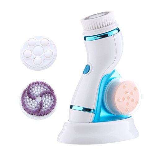 Facial brush 2 Speed Deep Facial Cleansing Brush Waterproof Sonic spin brush with 2 Brush Heads- Professional Skin Exfoliating Cleansing System