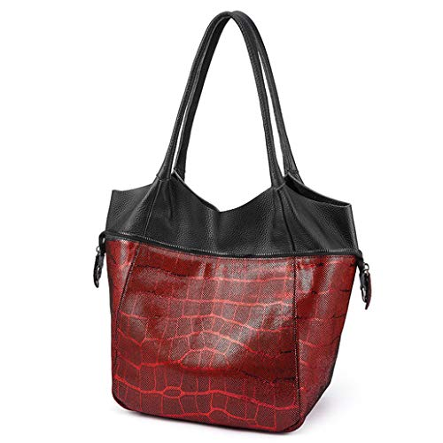 Shoulder Women Leather Luxury Handbags Ladies Crossbody Bags Tote Female Hobo Bag Multinational Fashion Burgundy (Handbag Alligator Embossed Hobo)