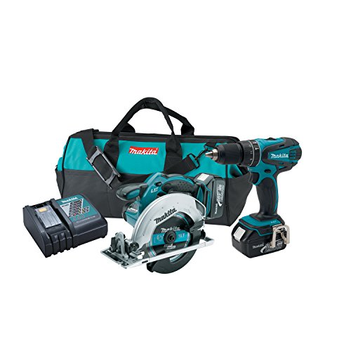 Makita XT250 18V LXT Lithium-Ion Cordless Combo Kit, 2-Piece
