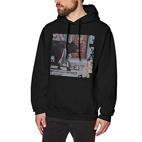 (LilianR Red Hot Chili Peppers The Getaway Men's Hoodies Sweater XL Black)