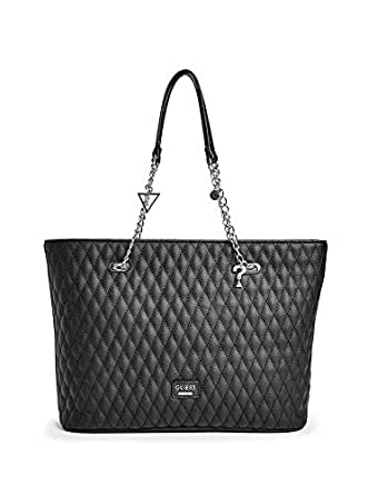 Guess Women's Larson Quilted Large Tote Bag - Black
