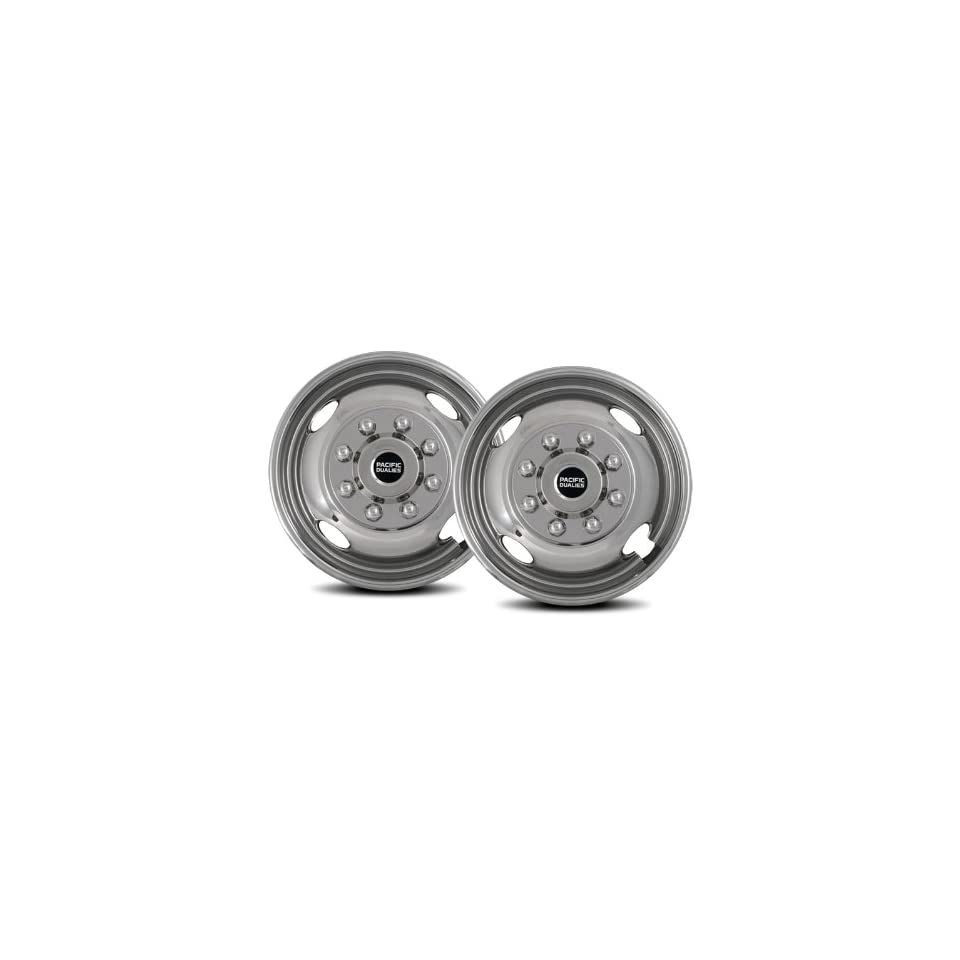 Pacific Dualies 43 2608 17 Polished Stainless Steel Wheel Simulator Front Tag Axle Kit for Ford F350 Truck RV Motorhome