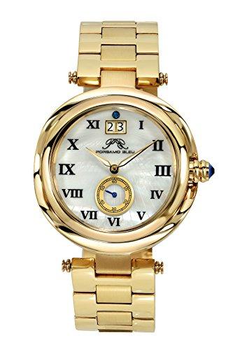 Porsamo Bleu Luxury South Sea Stainless Steel Champagne Tone Women's Watch 103ESSS