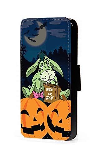 c riveras Eeyore Inspired Phone Case Halloween Frankenstein Mobile Case Fan Art Faux Leather flip Wallet Mobile Cover iPhone 7 -